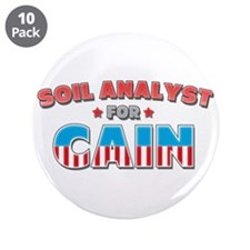 """Soil Analyst for Cain 3.5"""" Button (10 pack)"""