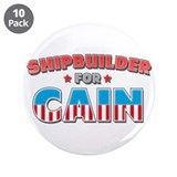 "Shipbuilder for Cain 3.5"" Button (10 pack)"