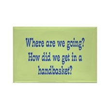 Hell in a Handbasket Rectangle Magnet (10 pack)