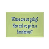 Hell in a Handbasket Rectangle Magnet (100 pack)