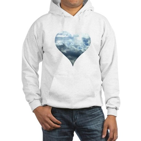 Blue Sky Heart Hooded Sweatshirt