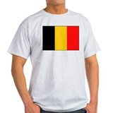 Belgian National Flag Ash Grey T-Shirt