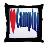I Love Camping Throw Pillow