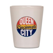Cincinnati Vintage Label Shot Glass
