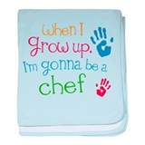 Kids Future Chef baby blanket
