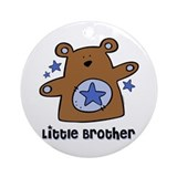 Teddy Bear Little Brother Ornament (Round)