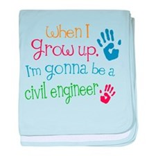 Kids Future Civil Engineer baby blanket