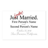 Finally Married Postcards (Package of 8)