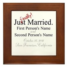Finally Married Framed Tile