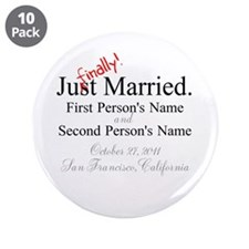 """Finally Married 3.5"""" Button (10 pack)"""
