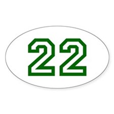 Number 22 Oval Bumper Stickers
