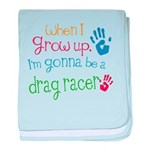 Kids Future Drag Racer baby blanket
