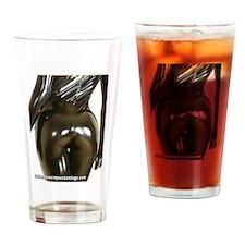 Black Rubber Bum Drinking Glass