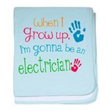Kids Future Electrician baby blanket
