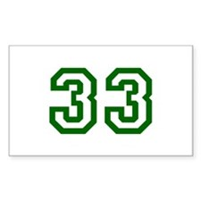 Number 33 Rectangle Decal