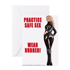 Practice Safe Sex Wear Rubber Greeting Card