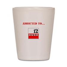 Addicted to Ouzo Shot Glass