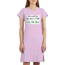 """Word For The Day"" Women's Pink Nightshirt"