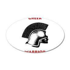 Greek Warrior 22x14 Oval Wall Peel