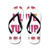 I Love Turnip! Flip Flops