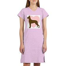 Great Dane Heart Women's Pink Nightshirt