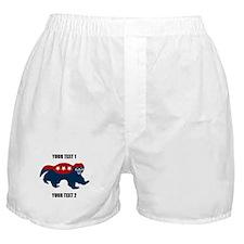 Patriotic Honey Badger Boxer Shorts