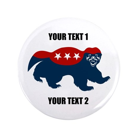 Patriotic Honey Badger 3.5&amp;quot; Button