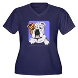 English Bulldog Lover Women's Plus Size V-Neck Dar