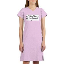 Flip Over to Spank Women's Pink Nightshirt