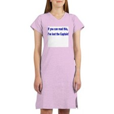 Lost the Captain Womens Nightshirt