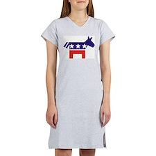 Democrat Donkey v2 Women's Pink Nightshirt