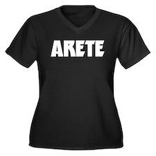 Unique War Women's Plus Size V-Neck Dark T-Shirt