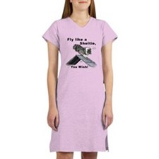 Shelties Fly- Agility Women's Nightshirt