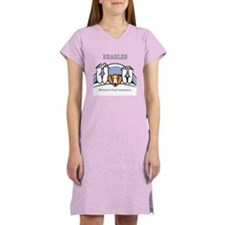 Beagle bed warmers Women's Nightshirt