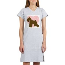 Miniature Schnauzer Heart Women's Nightshirt