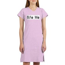Bite Me Design Women's Nightshirt