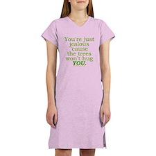 Funny Tree Hugger Joke Women's Nightshirt