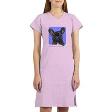 Peeking French Bulldog Women's Nightshirt