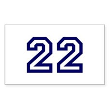 Number 22 Rectangle Decal