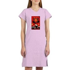 Long Hair Dachshund Revolution! Women's Nightshirt