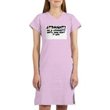 Straight? Women's Pink Nightshirt
