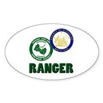 Riverside County Ranger Sticker (Oval 50 pk)