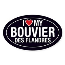 I Love My Bouvier des Flandres Oval Sticker/Decal