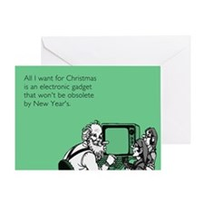 Obsolete Electronic Gadget Greeting Card