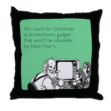 Obsolete Electronic Gadget Throw Pillow