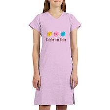 Chicks for Palin Brown Women's Nightshirt