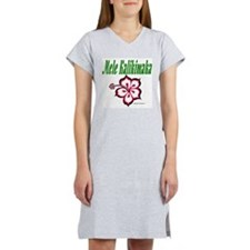 Hawaiian Merry Christmas Women's Nightshirt