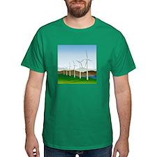 Wind Turbine Generator T-Shirt