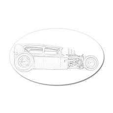 Ford 1930 Rat Rod 38.5 x 24.5 Oval Wall Peel