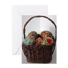 Pysanky Basket Greeting Card
